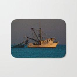 Tucker J fishing boat Bath Mat