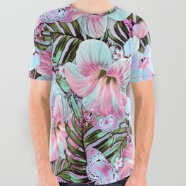 Vintage Pastel Aloha All Over Graphic Tee