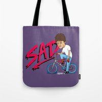 sad Tote Bags featuring Sad by Chris Piascik