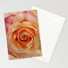 Artistic gorgeous rose with a textured background Stationery Cards