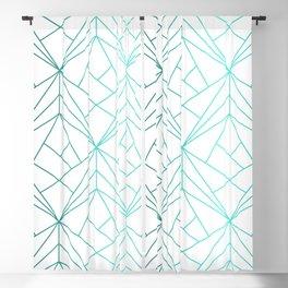 Geometric Turquoise Pattern Blackout Curtain