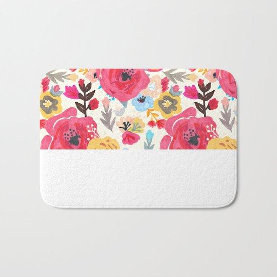 Summer Flora Bath Mat