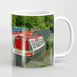 Narrowboats at Devizes Coffee Mug