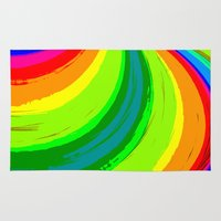 pride Area & Throw Rugs featuring Pride by Vix Edwards - Fugly Manor Art