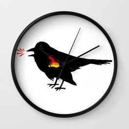 Red-winged Blackbird Wall Clock