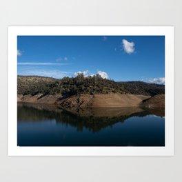 Lime Saddle Marina, Lake Oroville, Northern California Art Print