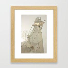 Cafe Mountain Framed Art Print