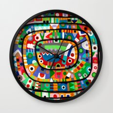 Planet of all good people Wall Clock