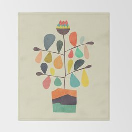 Potted Plant 4 Throw Blanket