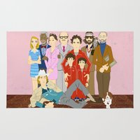 the royal tenenbaums Area & Throw Rugs featuring Royal Tenenbaums Family Portrait  by AnaMF