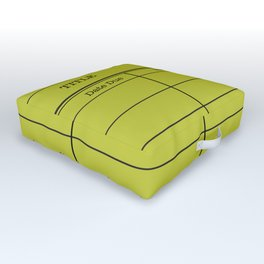 LiBRARY BOOK CARD (lime) Outdoor Floor Cushion