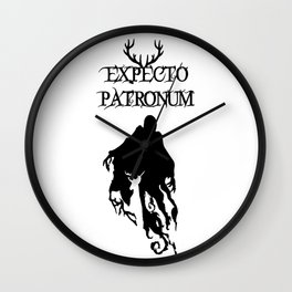 EXPECTO PATRONUM Wall Clock