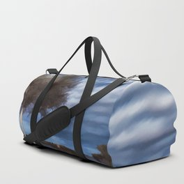 Birch tree by the pond Duffle Bag