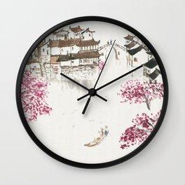 Spring Blossom Wall Clock