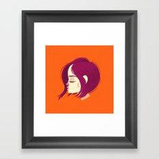 see through girl 1 Framed Art Print
