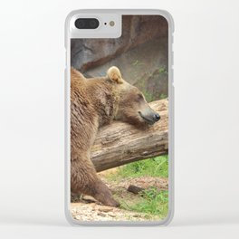 Teddy Bear At Rest Clear iPhone Case
