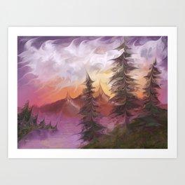 Sunsetrip Art Print
