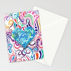 Doodle Heart Stationery Cards
