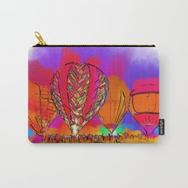 Hot Air Balloons In Subtle Abstract Carry-All Pouch