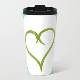 Green Heart with Love Travel Mug