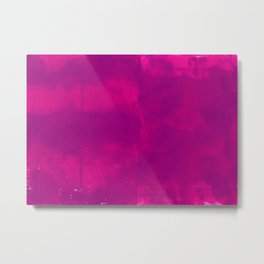 Pink and Purple Abstract Metal Print