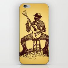The Blues Man iPhone & iPod Skin