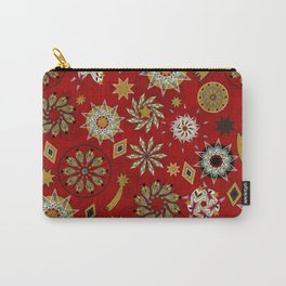 xmas golden red pattern Carry-All Pouch