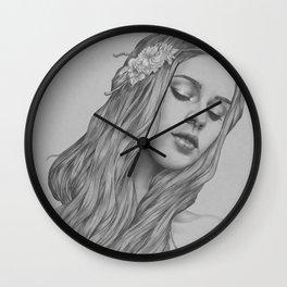 Patience - a digital drawing Wall Clock