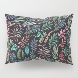 water color garden at nigth Pillow Sham