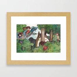 Studio Ghibli Crossover Framed Art Print