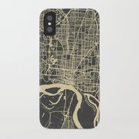 memphis iPhone & iPod Cases featuring Memphis map by Map Map Maps