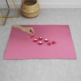 Tiny pink tea party Rug
