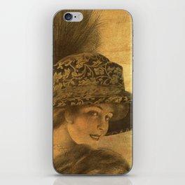 Golden victorian lady iPhone Skin