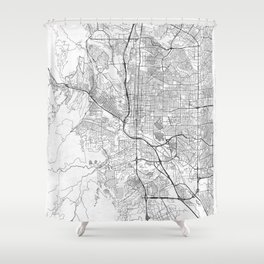Colorado Springs Map Line Shower Curtain
