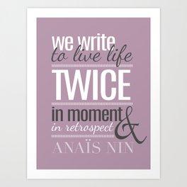 Typography - Anais Nin Art Print