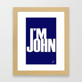 I'M JOHN (blue) Framed Art Print