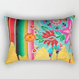Gold Dipped Boho Serape Dream Rectangular Pillow