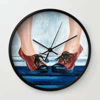 heels Wall Clocks featuring Heels by MardyArts