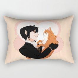 Sebastian and cat lady Rectangular Pillow
