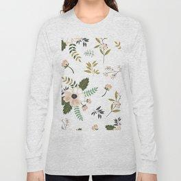 Winter floral - snowy blush petals Long Sleeve T-shirt