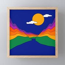 Rainbow Ravine Framed Mini Art Print