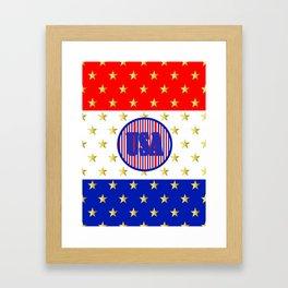 USA Stars And Stripes - United States Framed Art Print