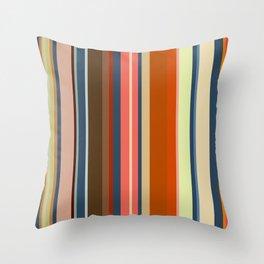 Minimal Art Retro Lines 13B Throw Pillow