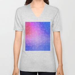 Abstract Colorful Flashy Geometric Triangulate Design Unisex V-Neck