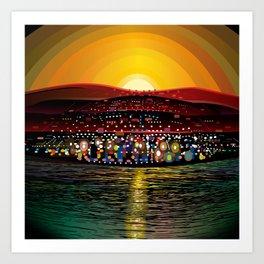 Angel Island Sunset (Square) Art Print