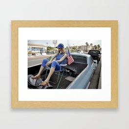 Lawn Chair Lounging - San Diego, California Framed Art Print
