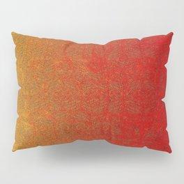 Flame Glitter Gradient Pillow Sham
