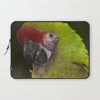 military Laptop Sleeves featuring Military Macaw by Maureen Bates Photography