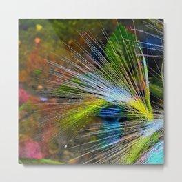Grass on a background of dark sky Metal Print