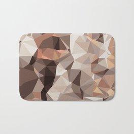 brown orange and black geometric abstract pattern Bath Mat